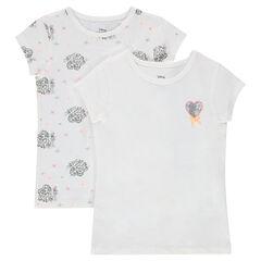 Σετ 2 βαμβακερά μπλουζάκια-φανελάκια με σχέδιο την Έλσα της Disney
