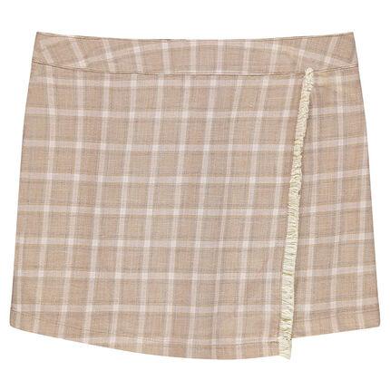 Παιδικά - Κοντή καρό φούστα-φάκελος