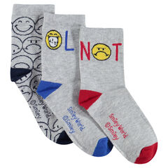 Σετ 3 ζευγάρια κάλτσες με ζακάρ μοτίβο ©Smiley