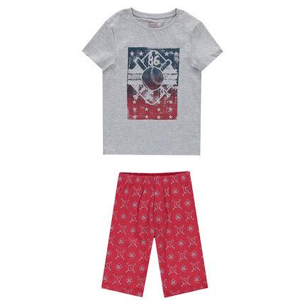 Παιδικά - Ζέρσεϊ πιτζάμα με στάμπα σε σπορ στυλ