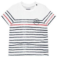 Κοντομάνικη μπλούζα από ζέρσεϊ με ρίγες σε αντίθεση