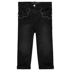 Μαύρο τζιν με διακοσμητικές τσέπες