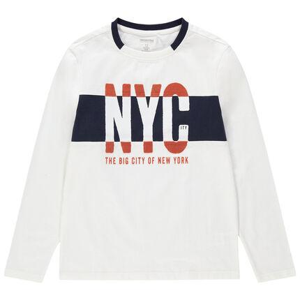 Παιδικά - Μακρυμάνικη μπλούζα από ζέρσεϊ με στάμπα NYC