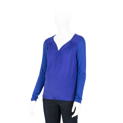 Tee-shirt de grossesse manches longues avec zip