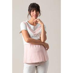 Κοντομάνικη μπλούζα από ζέρσεϊ με ραφές σε αντίθεση