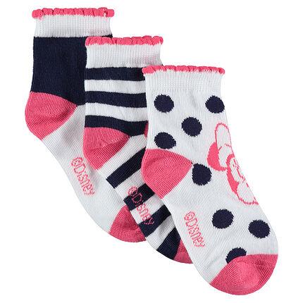 Σετ με 3 ζευγάρια κάλτσες με τη Minnie της ©Disney σε ζακάρ