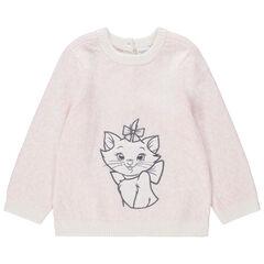 Πλεκτό πουλόβερ με κεντημένη τη Μαρί από τις Αριστογάτες της Disney