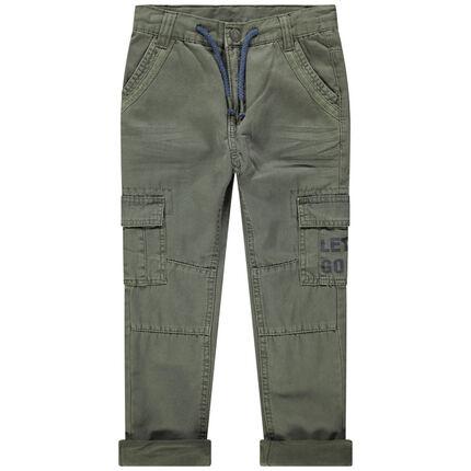 Υφασμάτινο παντελόνι σε νηματοβαφή με τσέπες
