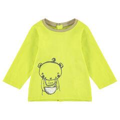 Μακρυμάνικη ζέρσεϊ μπλούζα με τύπωμα αρκουδάκι
