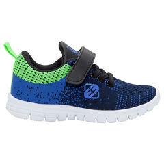 Χαμηλά αθλητικά παπούτσια με ελαστικά κορδόνια και αυτοκόλλητο βέλκρο, από 24 έως 29