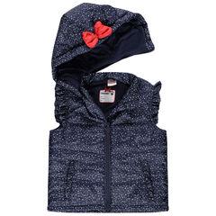 Αμάνικο καπιτονέ μπουφάν με πουά και κέντημα Minnie της Disney