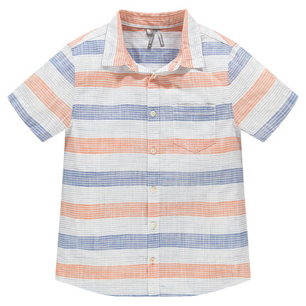 Junior - Chemise manches courtes à rayures