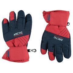 Αδιάβροχα δίχρωμα γάντια του σκι με λουράκι με αυτοκόλλητο velcro