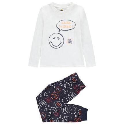 Pyjama en jersey print Smiley