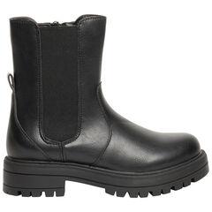 Demi-Μπότες μαύρες με άνοιγμα με φερμουάρ για κορίτσι , SAXO BLUES