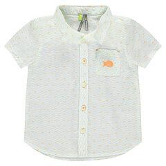 Κοντομάνικο πουκάμισο με εμπριμέ μοτίβο και τσέπη