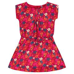 Φόρεμα από βουάλ ύφασμα με φλοράλ μοτίβο