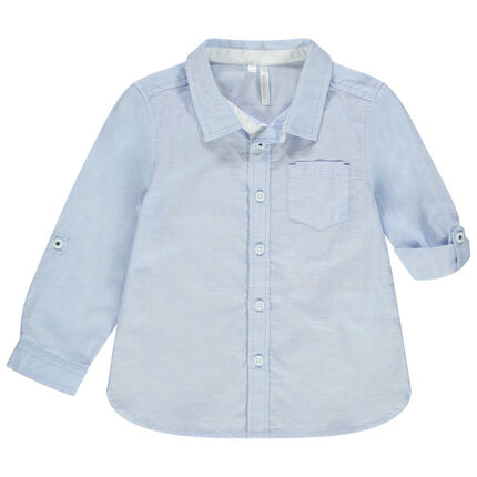 Μακρυμάνικο μακρυμάνικο πουκάμισο με τσέπη στο στήθος