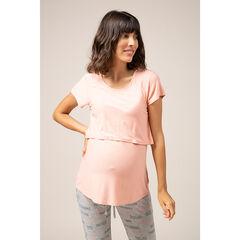 Μονόχρωμη μπλούζα εγκυμοσύνης και θηλασμού