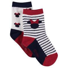 Σετ 2 ζευγάρια ασορτί κάλτσες με μοτίβο Μίνι της ©Disney