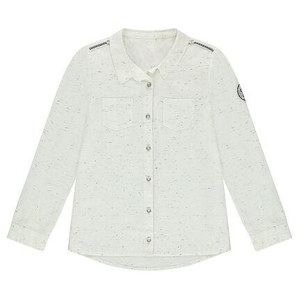 Παιδικά - Μακρυμάνικο βαμβακερό πουκάμισο με σιρίτια και σήματα