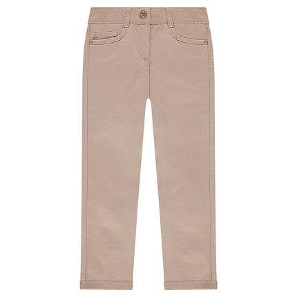 Παιδικά - Παστέλ παντελόνι σε γραμμή slim με τσαλακωμένη όψη.