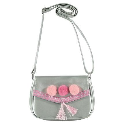 Τσάντα ώμου με φουντίτσες