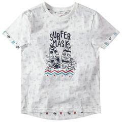 Παιδικά - Κοντομάνικη μπλούζα από ζέρσεϊ εμπριμέ με tribal σχέδια