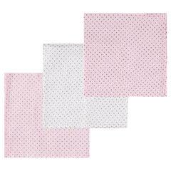 Σετ με 3 πάνες αγκαλιάς σε τετράγωνη ύφανση με πουά μοτίβο