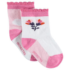 Σετ 2 ζευγάρια ασορτί κάλτσες με ζακάρ μοτίβα