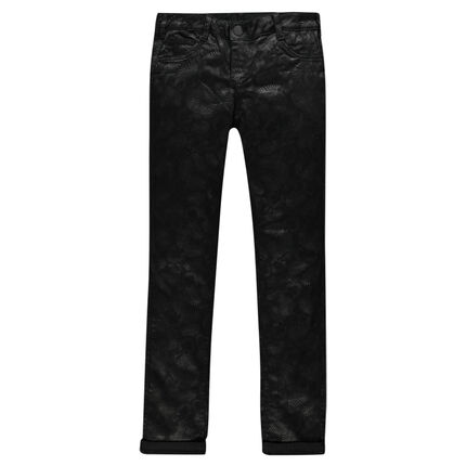 Junior - Pantalon réversible uni / imprimé