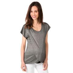 Κοντομάνικη μπλούζα σε διακοσμητική ύφανση με lurex