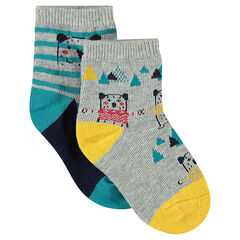 Σετ με 2 ζευγάρια κάλτσες με μοτίβο αρκουδάκια