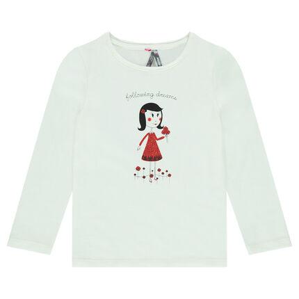 Μακρυμάνικη μπλούζα με στάμπα κοριτσάκι