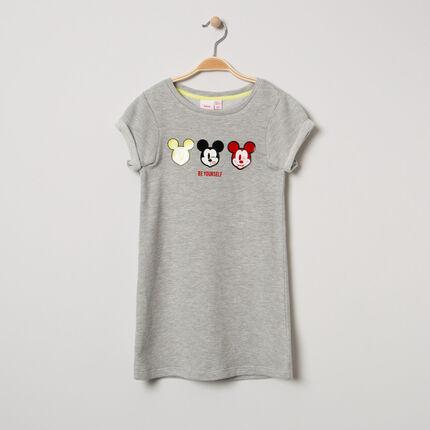 Κοντομάνικο φόρεμα μελανζέ με στάμπα τον Mickey της Disney