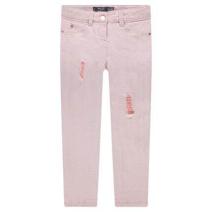 Παντελόνι από τουίλ ύφασμα με σκισίματα στα μπατζάκια
