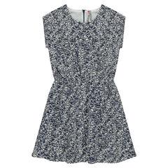 Κοντομάνικο φόρεμα με διάσπαρτο μοτίβο