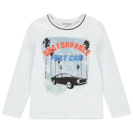 Μακρυμάνικη μπλούζα από ζέρσεϊ με στάμπα αυτοκίνητο