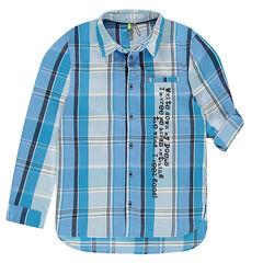 Παιδικά - Μακρυμάνικο καρό πουκάμισο με τυπωμένο κείμενο