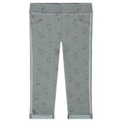 Εμπριμέ παντελόνι-κολάν με μοτίβο γάτες