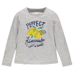 Μακρυμάνικη μπλούζα με φαντεζί αστραφτερό τύπωμα