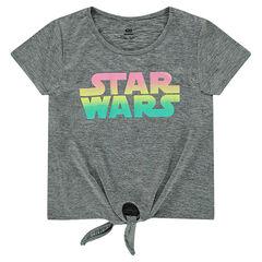 Κοντομάνικη μπλούζα με κορδόνια που δένουν και τύπωμα Star Wars™ με ντεγκραντέ εφέ