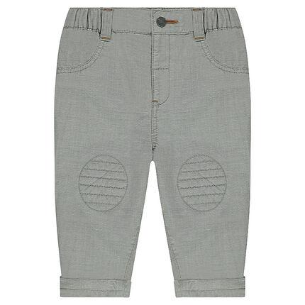 Βαμβακερό παντελόνι με εξωτερικές τσέπες
