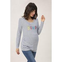 Μακρυμάνικο μπλούζα εγκυμοσύνης με κεντημένο μήνυμα