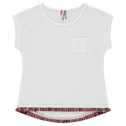 Παιδικά - Κοντομάνικη μπλούζα με διακοσμητικά κρόσσια