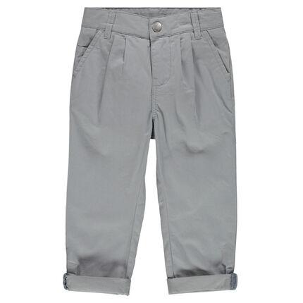 Παντελόνι chino με απαλή ύφανση ψαροκόκαλο