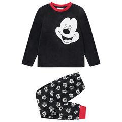 Πιτζάμα φλις με μοτίβο Mickey της Disney και κόκκινες νότες