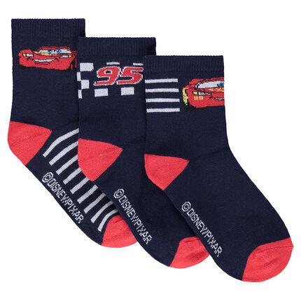 Σετ με 3 ζευγάρια ασορτί κάλτσες με μοτίβο Cars της Disney/Pixar®