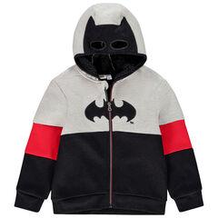 Ζακέτα με κουκούλα  με επένδυση sherpa Batman για αγόρι , Orchestra