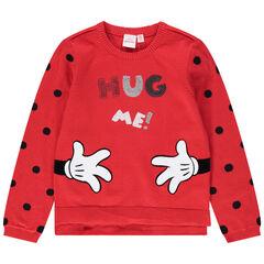 Πλεκτό πουλόβερ με πουά, μήνυμα με πούλιες και τύπωμα Μίνι της Disney